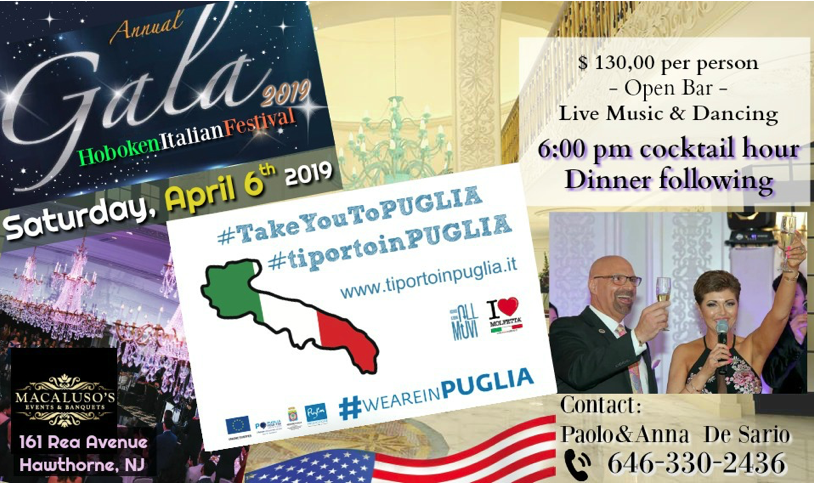 Annual Gala of the Apulians in America: the Dinner Dance 2019