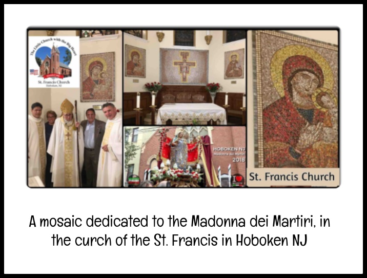 A mosaic dedicated to the Madonna dei Martiri, in Hoboken NJ