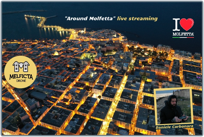 Around Molfetta with drone live streaming