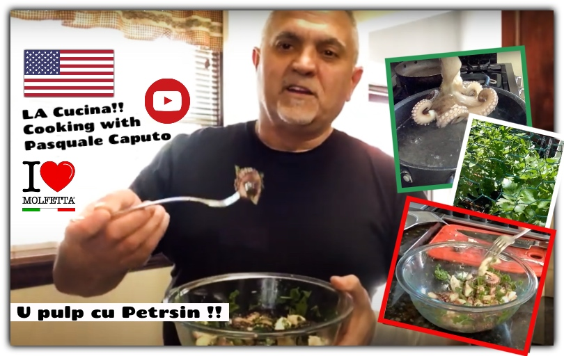 La Cucina cooking with Pasquale from USA: U pulp cu petrsin
